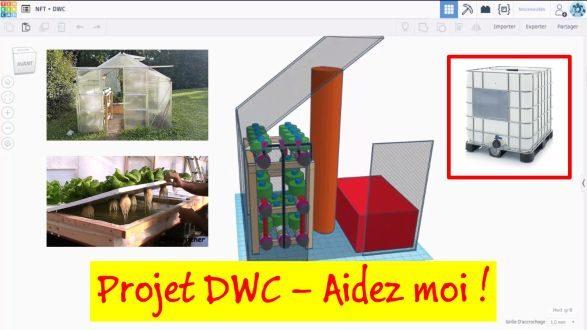 Projet DWC dans ma serre aquaponique