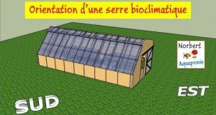 Orientation d'une serre bioclimatique