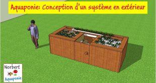 Aquaponie conception d'un système extérieur